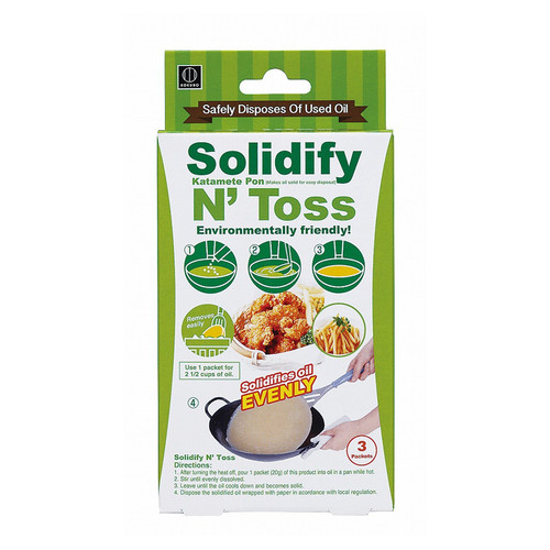 Solidify N Toss Disposable Waste Oil Hardener (English Package)