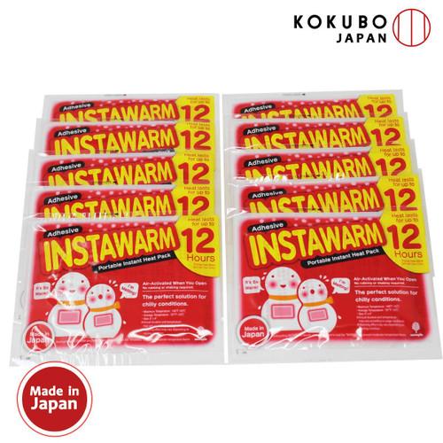 貼るぬくポン ぬくぬくカイロ10個入 (大) / Instawarm Adhesive Portable Heat pack (10 packs)