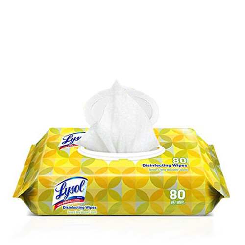 Lysol Disinfecting Wipes lemon & lime blossom scent 80ct