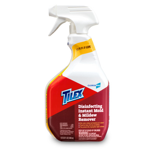 TILEX / CLOROX PRO Disinfecting Instant Mold & Mildew Remover 1QT (32 FL OZ) 946mL [Alternative of Lysol or Clorox Cleaner / Multi Surface Cleaner with breach]