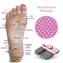 Acu Air Foot Reflexology Sandals Women's (Pink / Gray)