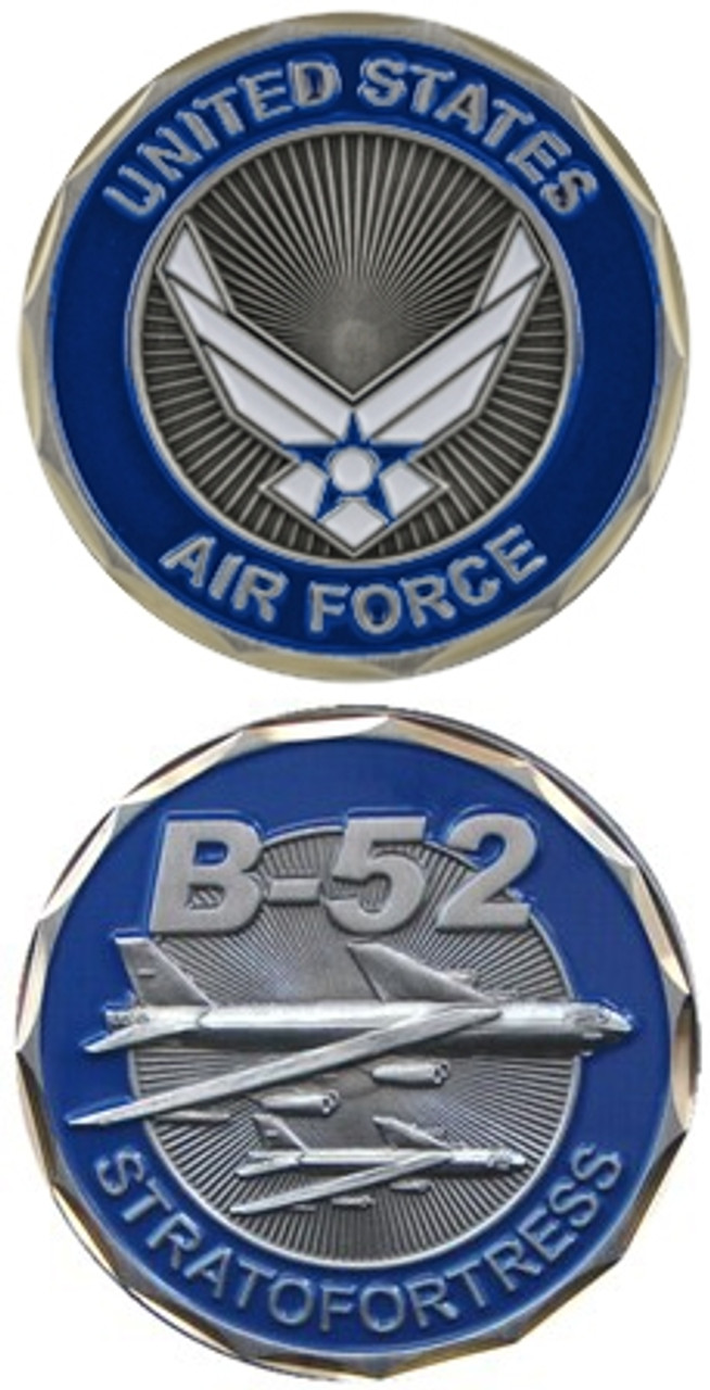 US Air Force B-52 Challenge Coin - Meach's Military Memorabilia & More