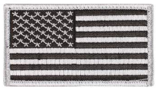 American Flag Patch (Black/Silver)