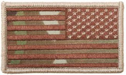 American Flag Patch (Multicam)(Reverse)