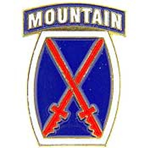 U.S. Army 10th Mountain Division pin