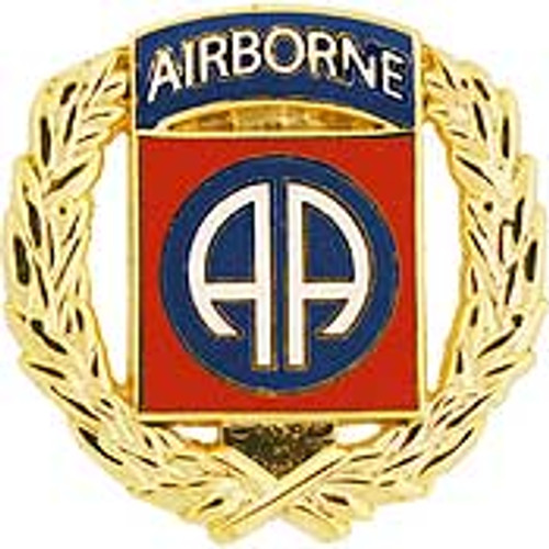 U.S. Army 82nd Airborne Division w/ Wreath pin