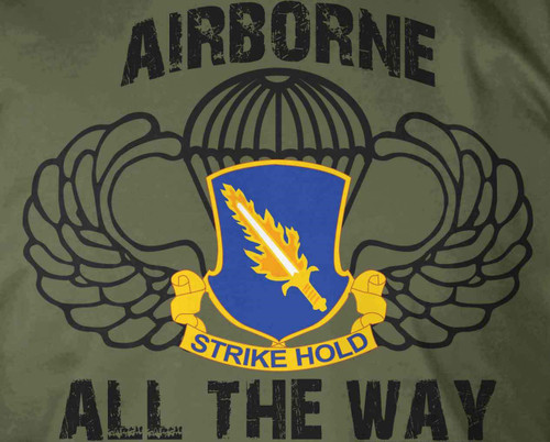 504th PIR Airborne All The Way T-Shirt
