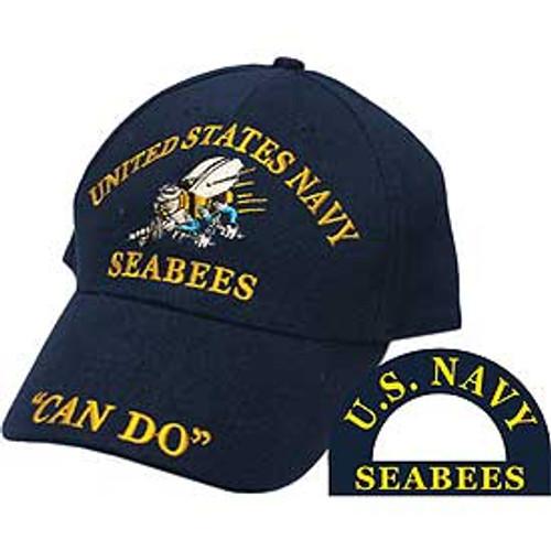 "US Navy Seabees ""Can Do"" Baseball Cap"