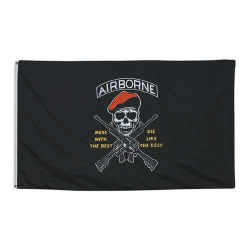 """Airborne """"Mess with the Best"""" 3X5 Flag"""