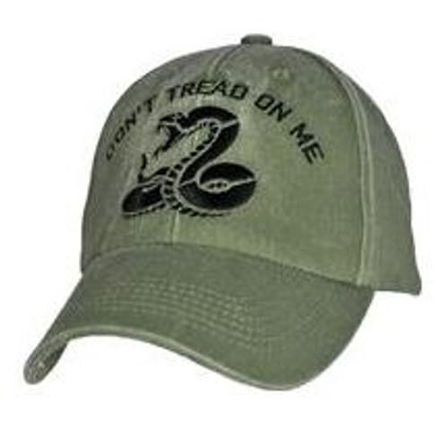 Don't Tread On Me OD GREEN CAP