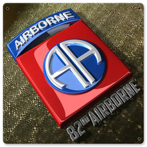 82nd Airborne Metal Wall Sign (12X12)