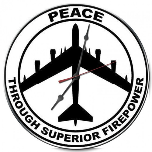 Peace through Superior Firepower Clock (14X14)