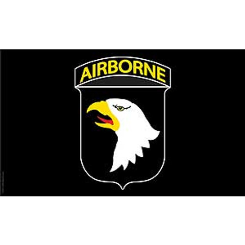 101st Airborne Division Black 3X5 Flag