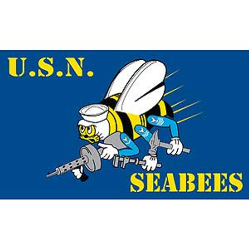United States Navy Seabees 3X5 Flag