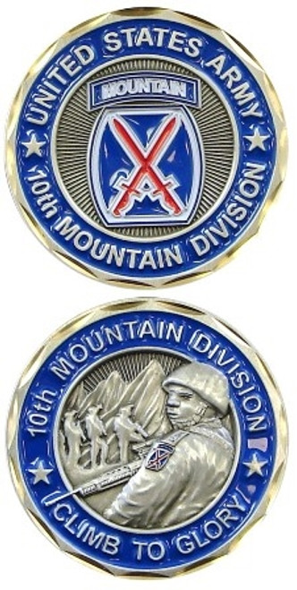 "10th Mountain ""Climb To Glory"" Challenge Coin"