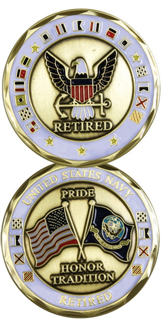 US Navy Retired Challenge Coin