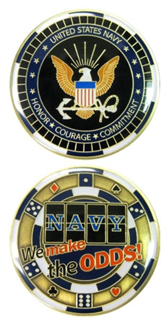 US Navy We Make The Odds Challenge Coin