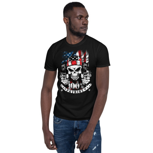 100% Patriot Short-Sleeve Unisex T-Shirt