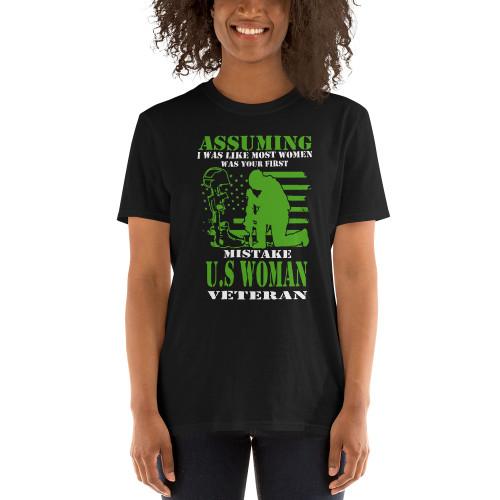 Woman Veteran Short-Sleeve Unisex T-Shirt
