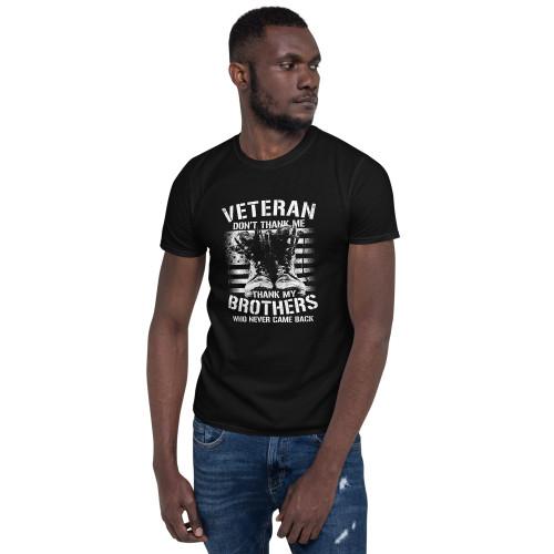 Veteran Don't Thank Me Short-Sleeve Unisex T-Shirt