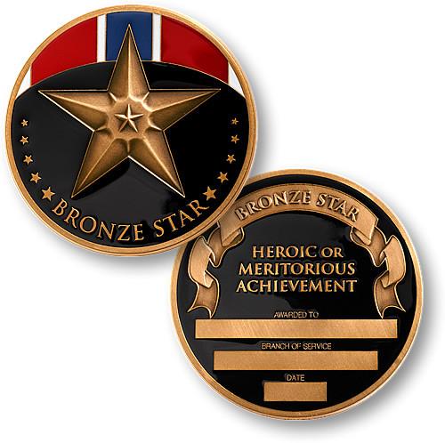Bronze Star Bronze Challenge Coin