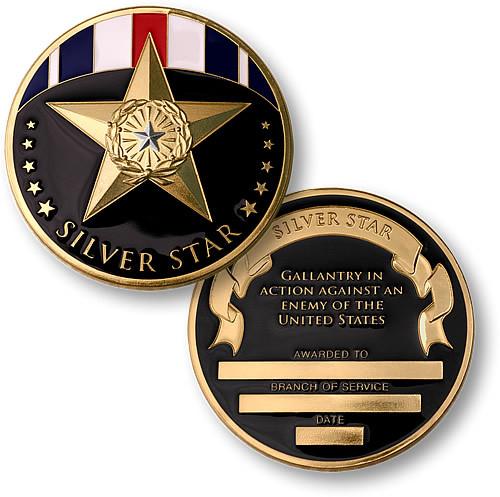 Silver Star Bronze Challenge Coin
