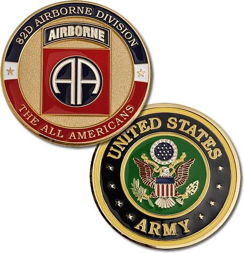 82nd Airborne Division Brass Challenge Coin