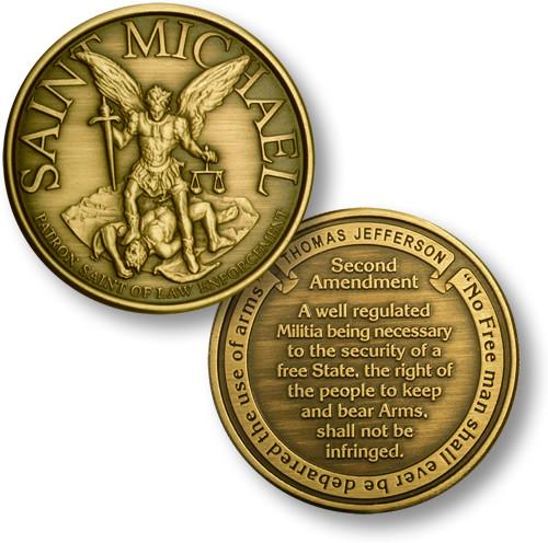 St. Michael - Second Amendment Challenge Coin
