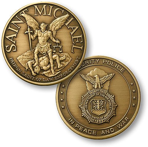 Saint Michael - USAF Security Challenge Coin