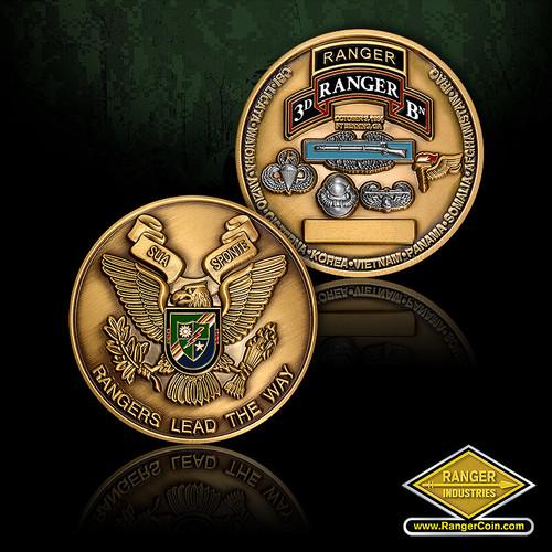 3D Ranger Battalion Challenge Coin