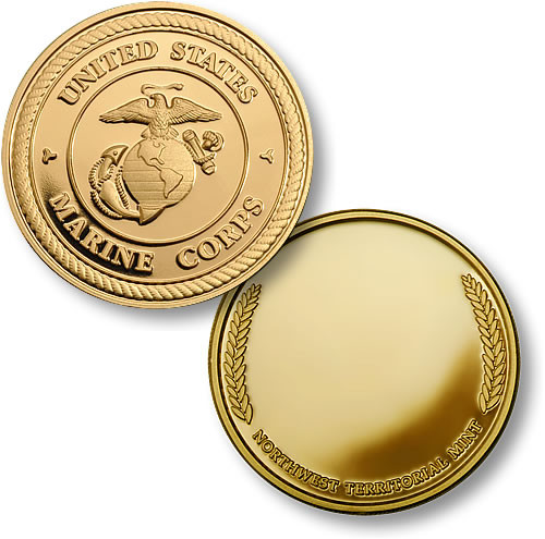 US Marines Wreath Challenge Coin