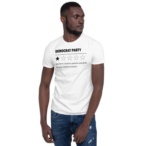 Democrat Party (Black Text) Short-Sleeve Unisex T-Shirt