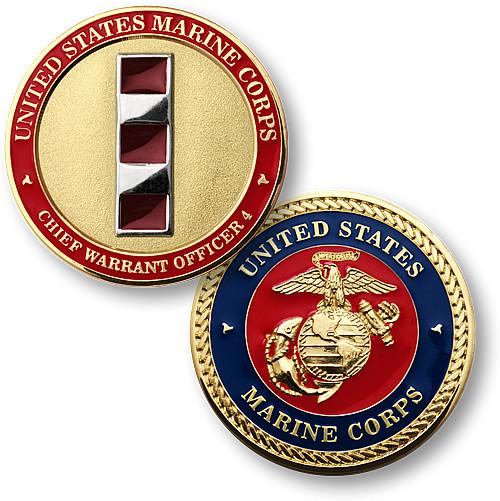 U.S. Marines Chief Warrent Officer 4 Challenge Coin