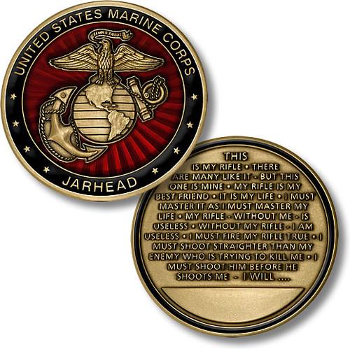 U.S. Marines Jarhead Challenge Coin