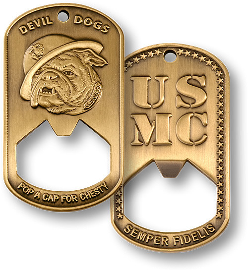 US Marine Corps Dog Tag Bottle Opener