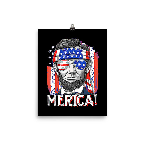 Merica! (Lincoln) Poster