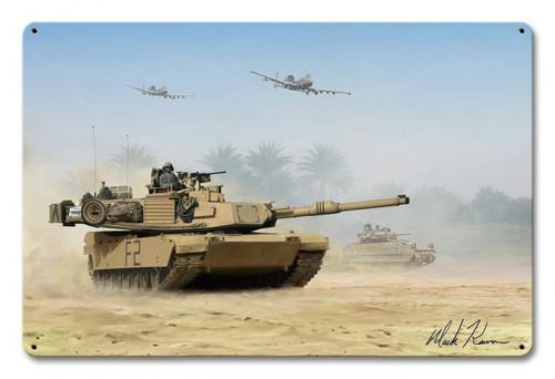 M1 Abrams Metal Wall Sign (18X12)