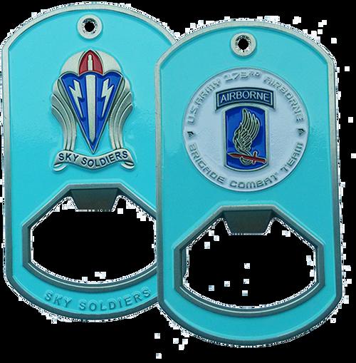 173rd Airborne Brigade Dog Tag Bottle Opener