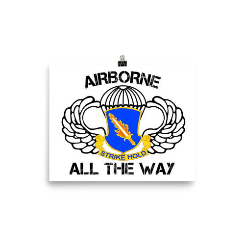 504 Airborne All the Way Poster