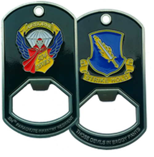 504th Parachute Infantry Regiment Dog Tag Bottle Opener