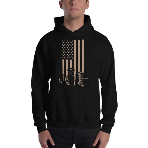 American Hunter US Flag Unisex Hoodie