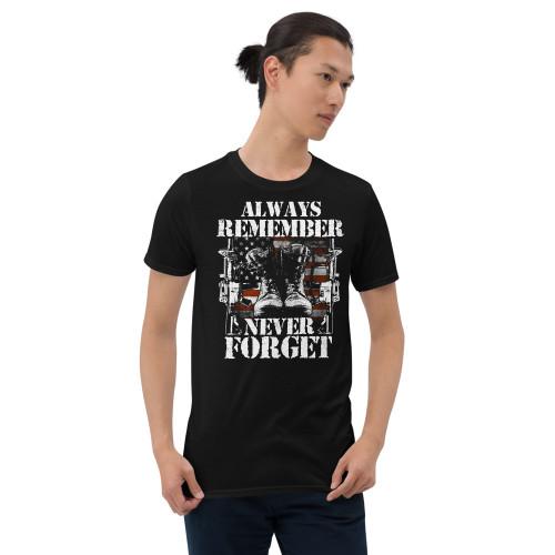Always Remember / Never Forget (Option 2) Short-Sleeve Unisex T-Shirt