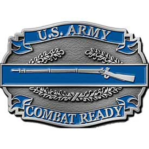 "Combat Infantry Badge ""Combat Ready"" Buckle"