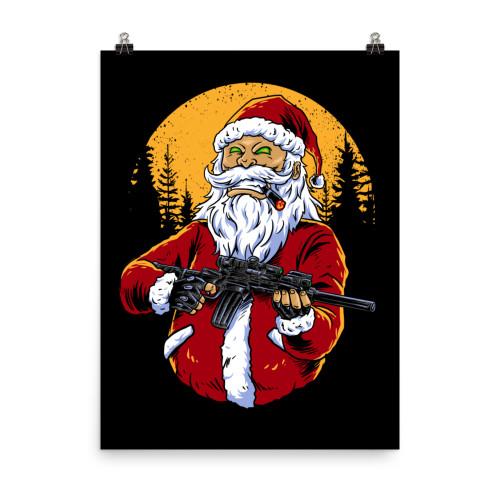 Armed Santa Poster