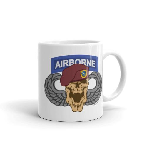 1-504 Airborne Skull Mug