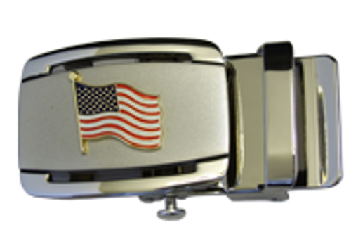 American Flag Ratchet Buckle
