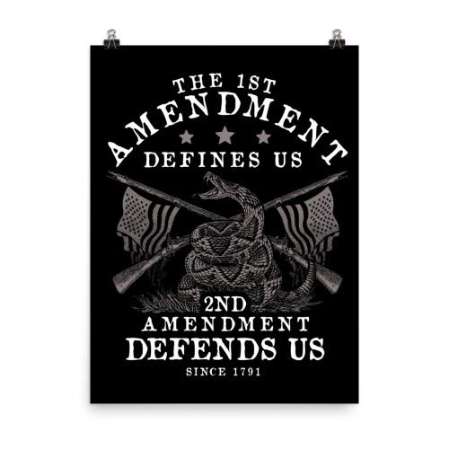 1st Defines 2nd Defends Poster