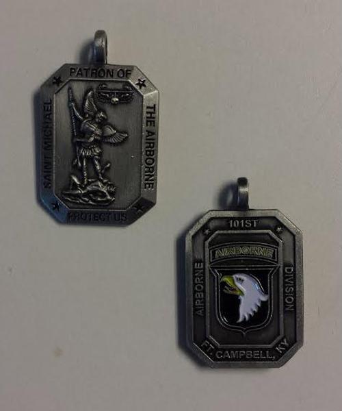 Saint Michael Patron of The Airborne Medal- 101st AIRBORNE
