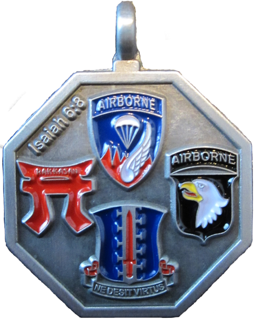 187th Infantry Regiment (Rakkasans) St. Michael Medallion