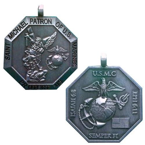 Saint Michael Patron of US Marines 3D USMC Medallion